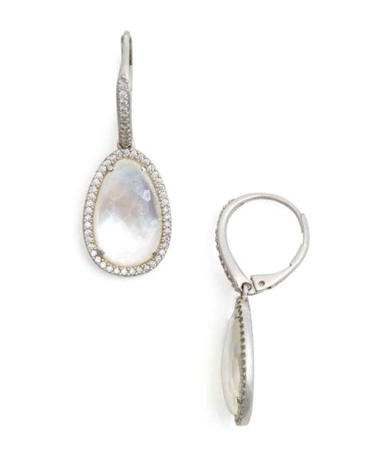 Nadri - Metallic Mother-of-pearl Drop Earrings - Lyst