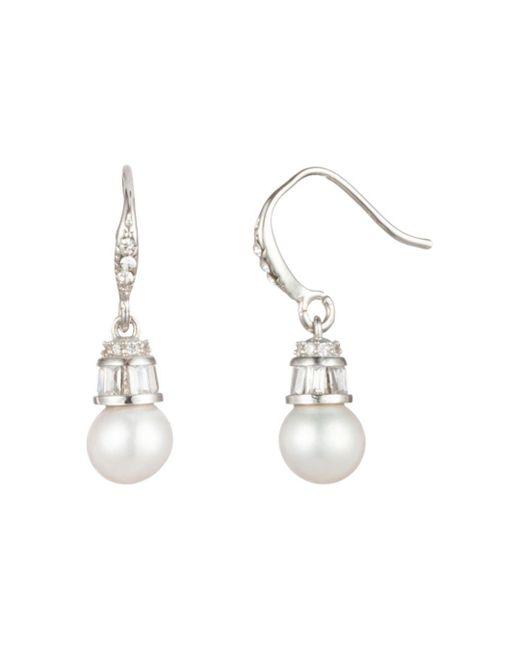 Carolee - Metallic Cultured Freshwater Pearl & Baguette Drop Earrings - Lyst