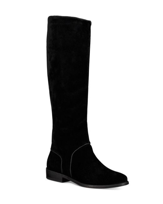 Ugg | Black Gracen Suede Riding Boots | Lyst