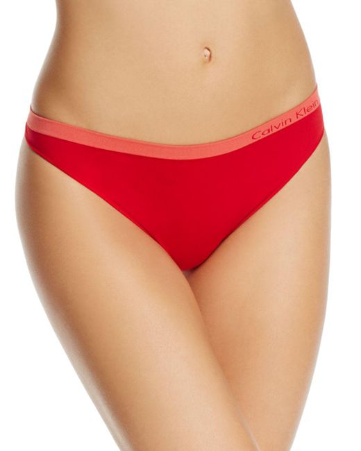 CALVIN KLEIN 205W39NYC - Red Pure Seamless Thong - Lyst