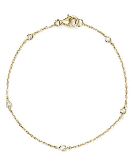Aqua - Metallic Thin Chain Bracelet - Lyst