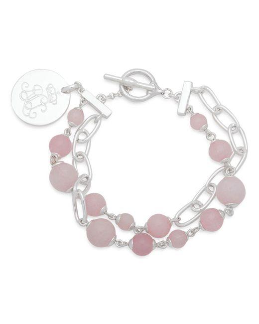 Ralph Lauren - Metallic Lauren Link And Stone Double Strand Pendant Bracelet - Lyst