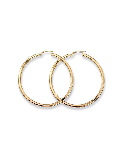 Roberto Coin | Metallic Medium 18k Yellow Gold Hoop Earrings | Lyst