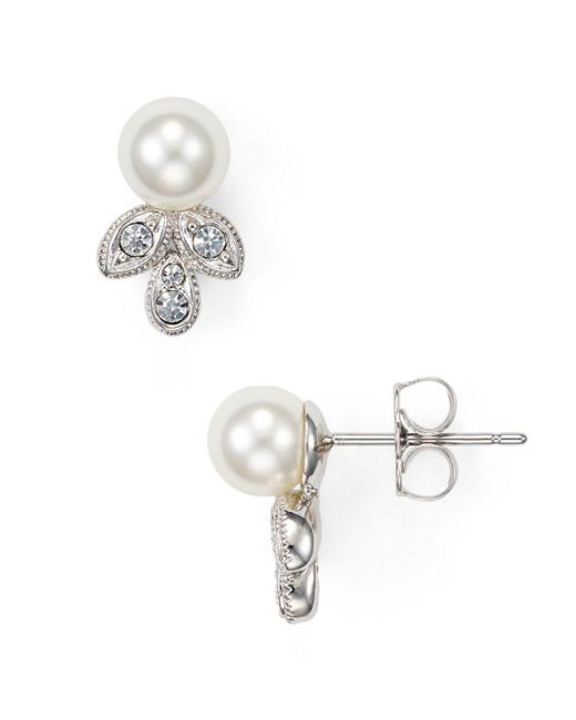 Nadri - Metallic Leaf Stud Earrings - Lyst