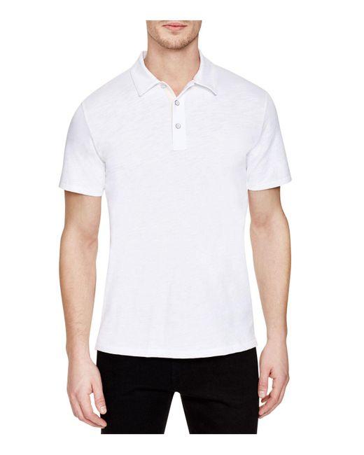 Rag & Bone | White Moulinex Regular Fit Polo Shirt for Men | Lyst
