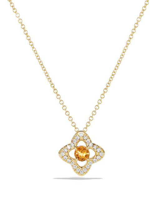 David Yurman - Metallic Venetian Tanzania & Diamond Pave Quatrefoil Pendant Necklace - Lyst