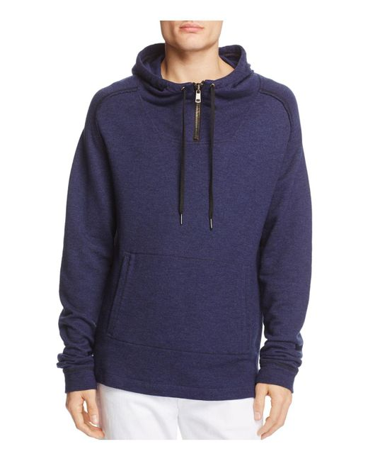 Blank NYC   Blue Half-zip Hoodie Sweatshirt for Men   Lyst