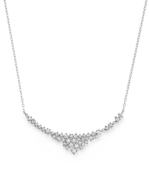Bloomingdale's - Diamond Scatter Necklace In 14k White Gold, .70 Ct. T.w. - Lyst