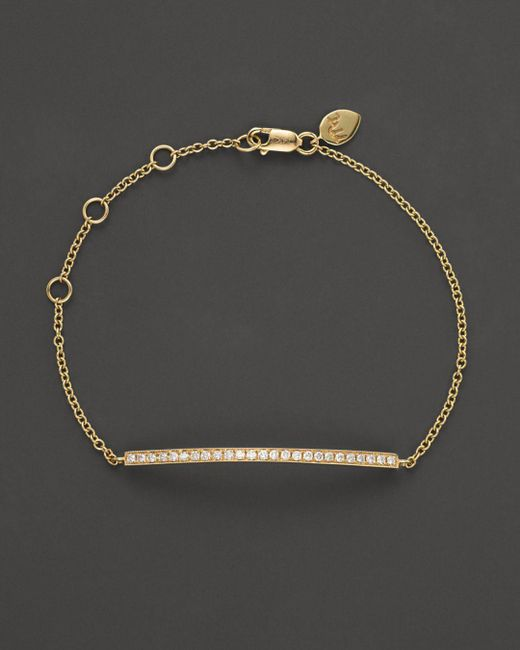 Meira T - Metallic 14k Yellow Gold Diamond Bar Bracelet - Lyst