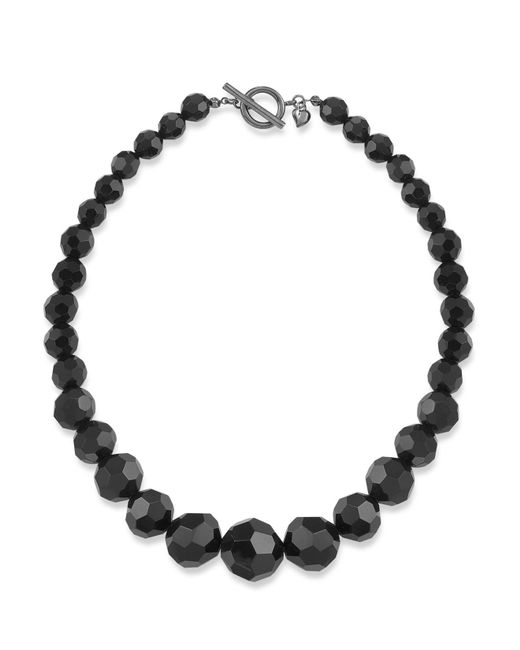 Carolee - Black Jet Crystal Beaded Necklace - Lyst