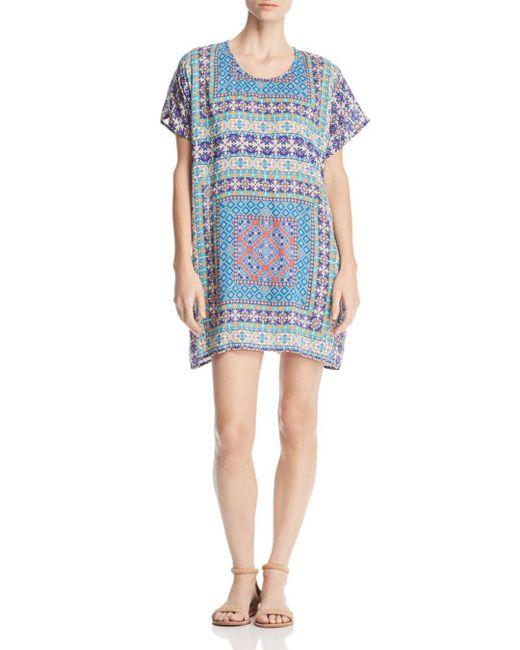 Tolani - Blue Tile-print Tunic Dress - Lyst