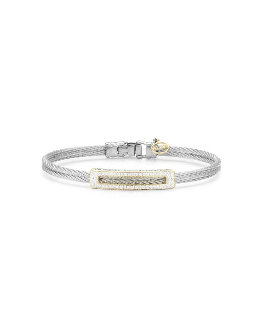 Alor | Multicolor Diamond Grey Cable Bangle | Lyst