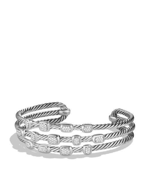 David Yurman | Metallic Confetti Narrow Cuff Bracelet With Diamonds | Lyst