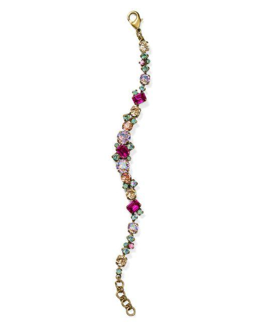 Sorrelli - Metallic Classic Geo-line Crystal Bracelet - Lyst