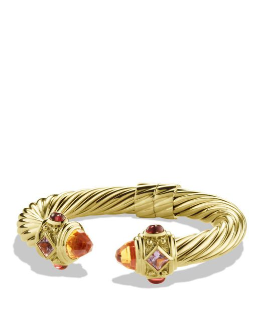 David Yurman - Metallic Renaissance Bracelet With Citrine And Iolite In Gold - Lyst