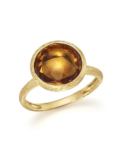 Marco Bicego - Metallic 18k Yellow Gold Jaipur Ring With Citrine - Lyst