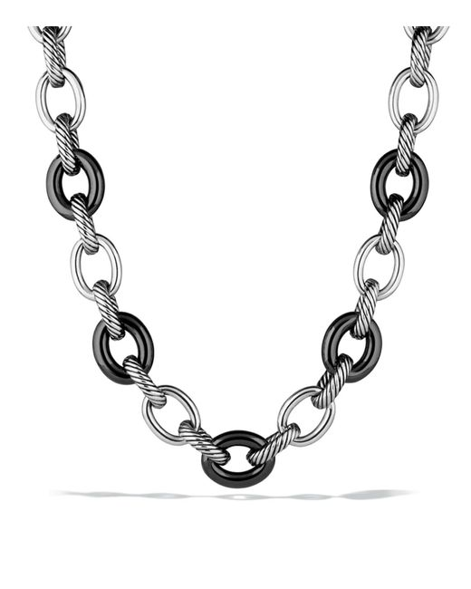 David Yurman | Metallic Oval Extra Large Link Necklace | Lyst
