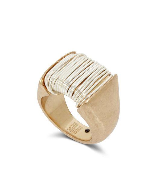 Robert Lee Morris - Metallic Two-tone Wrap Metal Ring - Lyst