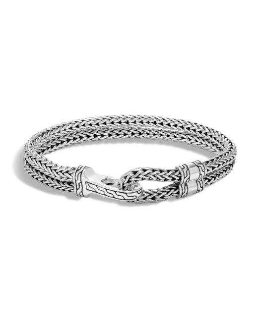 John Hardy - Metallic Men's Sterling Silver Classic Chain Double-row Bracelet for Men - Lyst