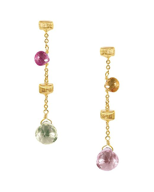 """Marco Bicego - Metallic """"paradise Collection"""" 18 Kt. Yellow Gold Earrings - Lyst"""