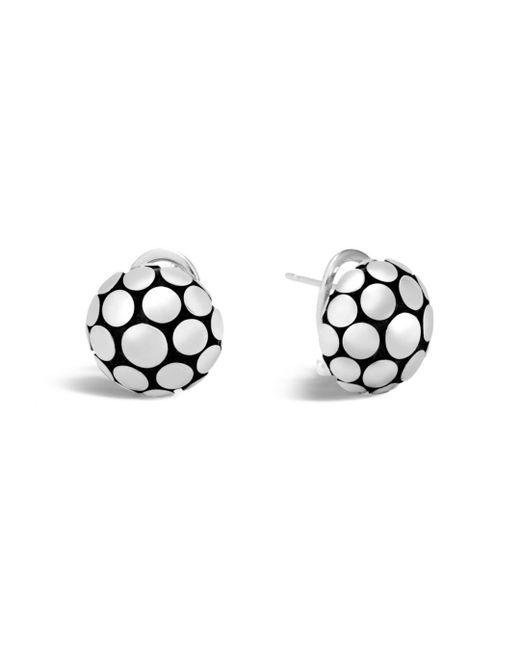 John Hardy - Metallic Sterling Silver Dot Large Button Earrings - Lyst
