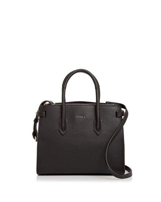 Furla | Black Pin Leather Tote | Lyst