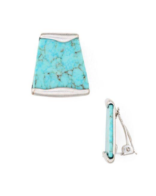 Robert Lee Morris   Blue Stone Clip-on Earrings   Lyst