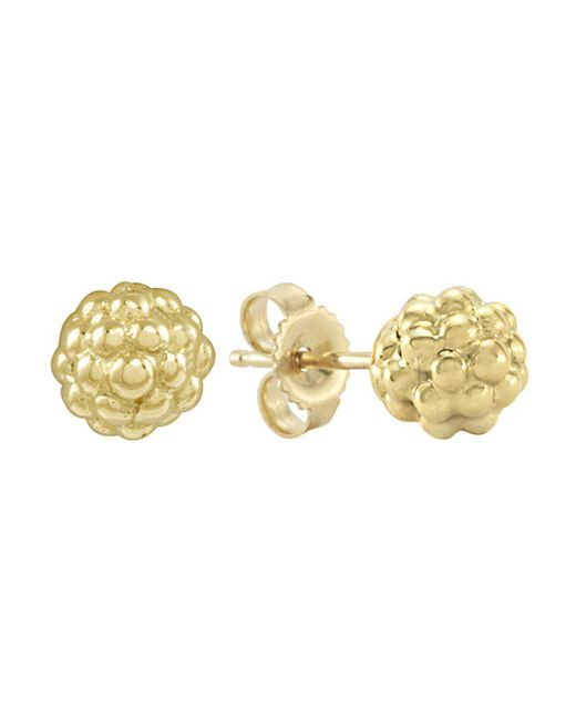 Lagos - Metallic 18k Gold Stud Earrings - Lyst