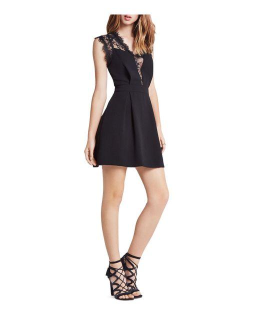 BCBGeneration   Black Lace Detail Dress   Lyst