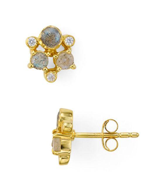 Argento Vivo - Metallic Sydney Cluster Stud Earrings - Lyst
