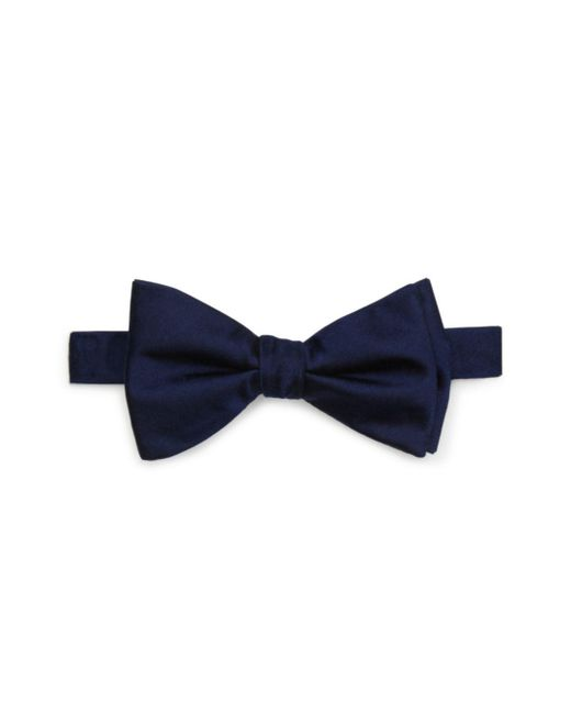 Bloomingdale's - Blue Solid Satin Pre-tied Bow Tie for Men - Lyst
