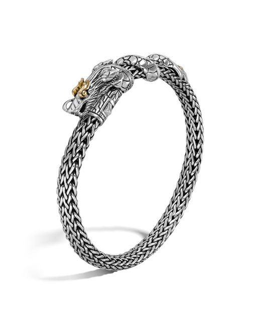 John Hardy | Metallic Naga Gold And Silver Dragon Station Chain Bracelet | Lyst
