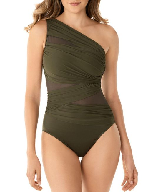 32fb54ada7d Miraclesuit - Green Network Jena One Piece Swimsuit - Lyst ...