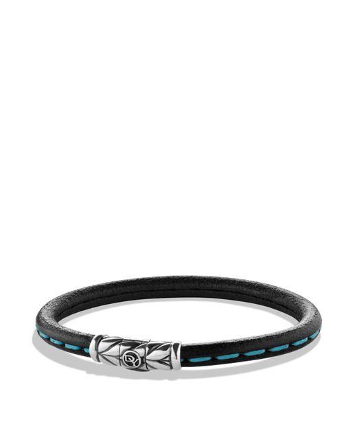 David Yurman   Leather Bracelet In Blue   Lyst