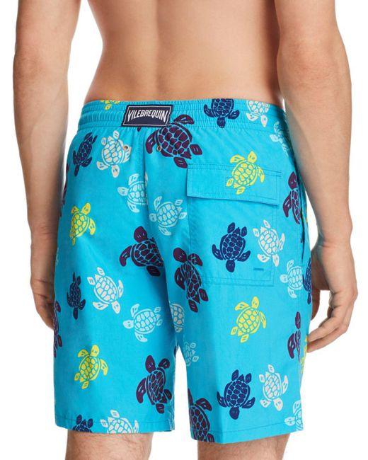 e8065e6980c5e ... Vilebrequin - Blue Okoa Swim Trunks for Men - Lyst