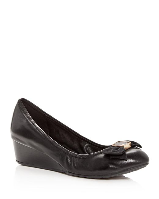 Cole Haan - Black Women's Tali Leather Demi-wedge Pumps - Lyst