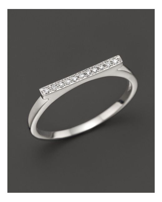 Dana Rebecca | Metallic Diamond Sylvie Rose Ring In 14k White Gold | Lyst