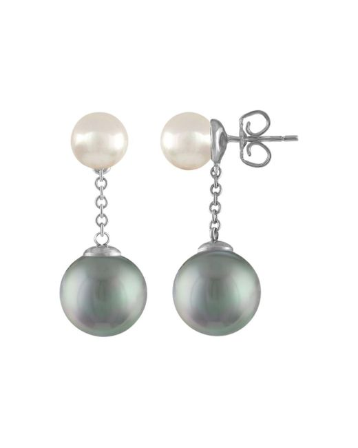 Majorica - Metallic Simulated Pearl Drop Earrings - Lyst