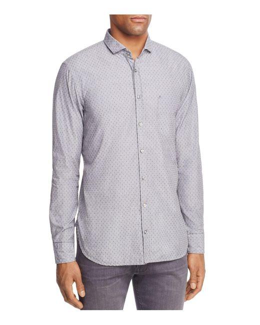 BOSS Orange | Gray Cattitude Long Sleeve Button-down Shirt for Men | Lyst