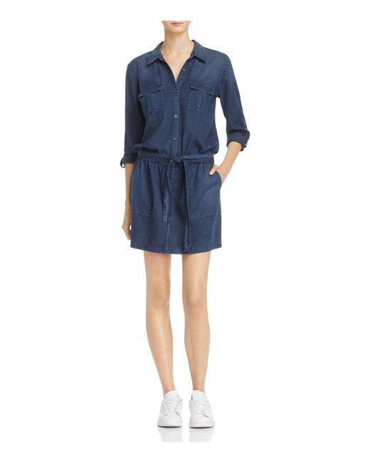 Soft Joie | Blue Sorenne Drop-waist Chambray Shirt Dress | Lyst