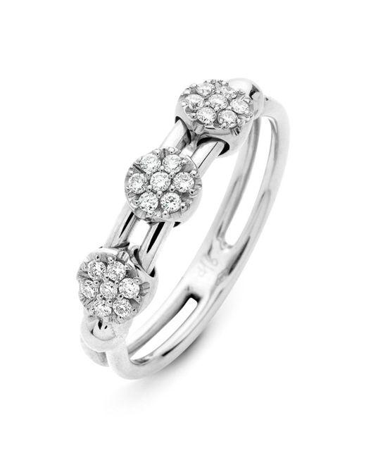 Hulchi Belluni - 18k White Gold Tresore Diamond Ring - Lyst