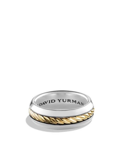 David Yurman - Metallic Cable Classics Ring With 18k Gold - Lyst