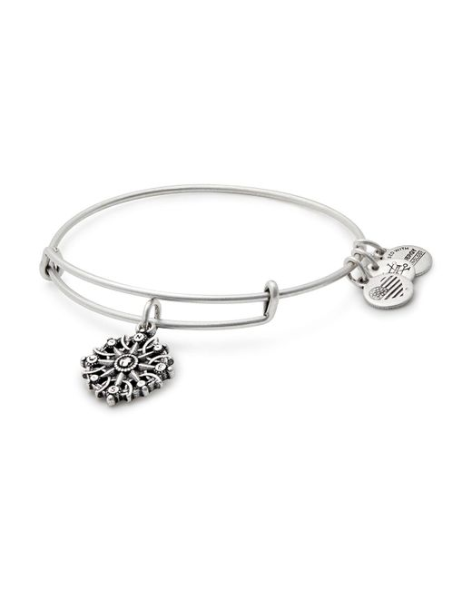 ALEX AND ANI | Metallic Compass Expandable Wire Bangle | Lyst
