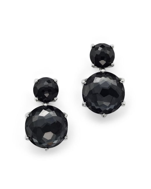 Ippolita | Metallic Sterling Silver Rock Candy® 2 Stone Post Earrings In Black Onyx And Hematite | Lyst