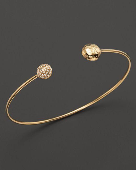 KC Designs - Metallic Diamond Double Circle Bracelet In 14k Yellow Gold - Lyst