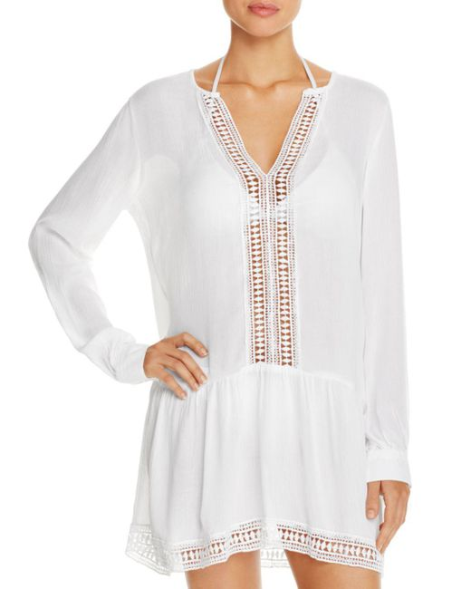 Athena - White Cabana Tunic Swim Cover-up - Lyst