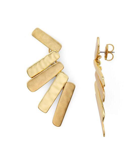 Robert Lee Morris | Metallic Stacked Chandelier Earrings | Lyst