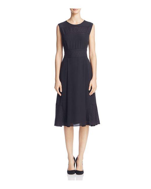 Nanette Nanette Lepore | Black Eyelet-detail Dress | Lyst
