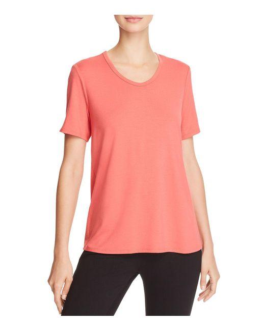 Eileen Fisher | Pink Soft Short-sleeve Tee | Lyst