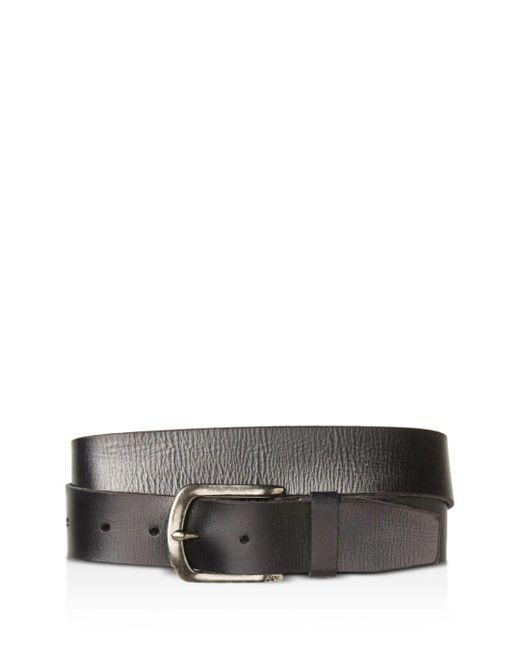 John Varvatos - Black Basic Leather Belt for Men - Lyst